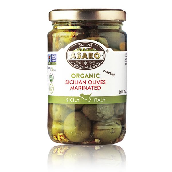 Sicilian Olives Marinated Cracked